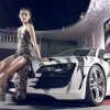 Colorful white camouflage vinyl wrap