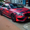 Colorful red camouflage removing vinyl wrap