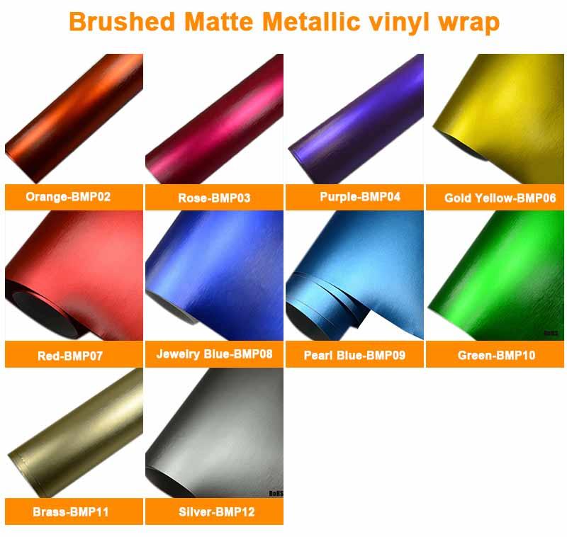 Brushed Matte Metallic vinyl wrap