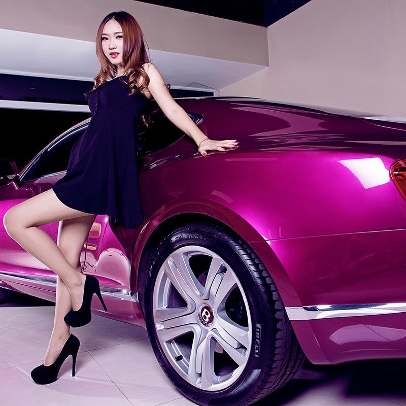 Wrapmaster rose glossy matellic pearl film car wrap