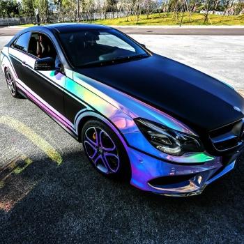 wrapmaster 7 colors rainbow laser chrom vinyl wrap for car
