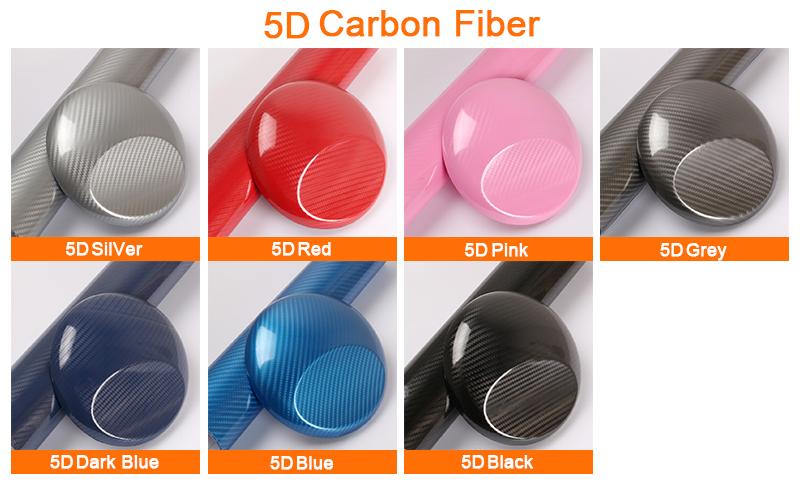 5D carbon fiber car vinyl wrap