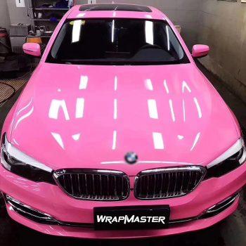 pink car vinyl wrap