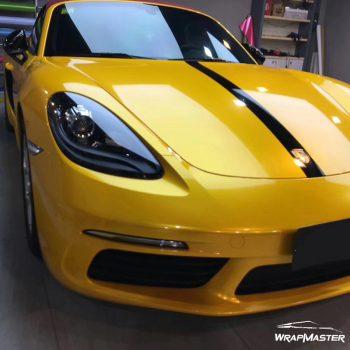 glossy metallic yellow vinyl wrap
