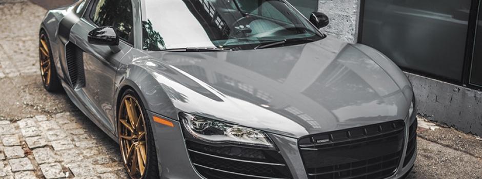 high gloss car foil wrap grey