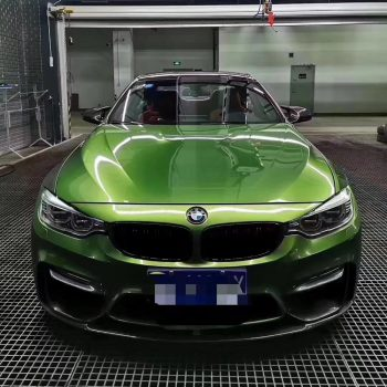 car vinyl wrap mamba green