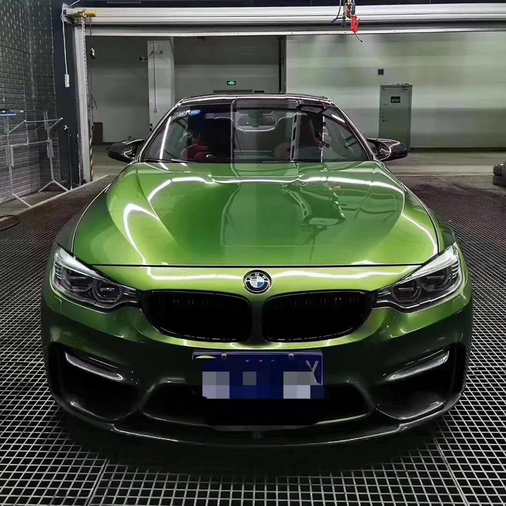 car vinyl wrap mamba green