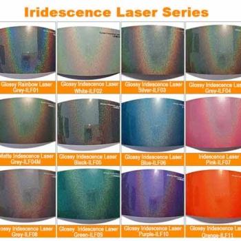 Iridescence laser car vinyl sheets