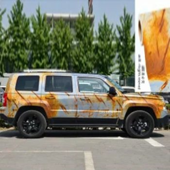 rust vehicle vinyl wrap